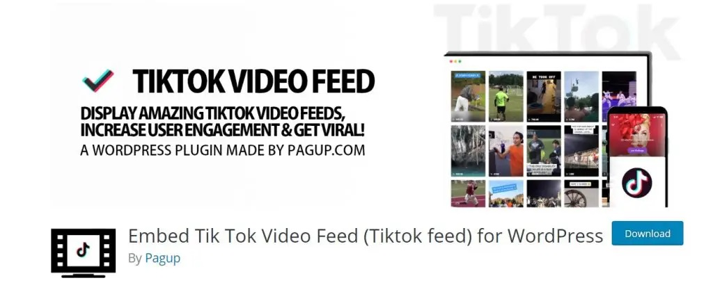 TikTok - Embed TikTok Video Feed